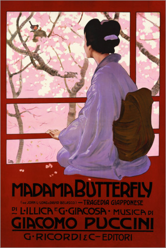 Póster Premium Puccini, Madame Butterfly
