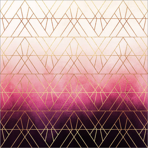 Autocolante decorativo Pink Ombre Triangles