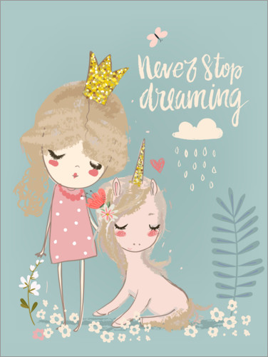 Póster Premium Never stop dreaming