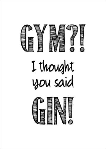 Póster Premium Gym or Gin