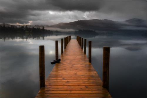 Póster Premium Derwentwater Jetty in the Lake District