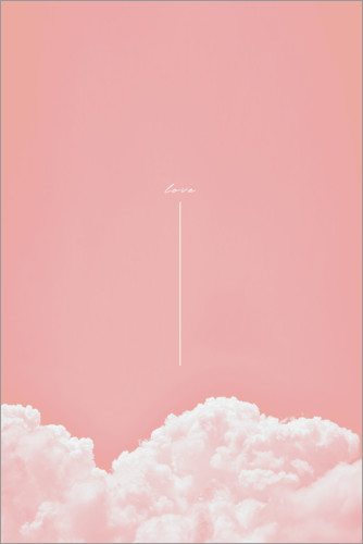 Póster Premium Love in the clouds