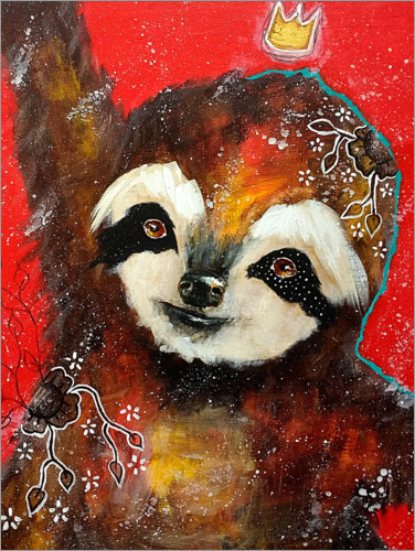 Póster Premium A heart filled with joy - Sloth