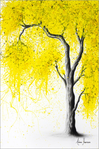 Póster Premium Fall Tree Yellow