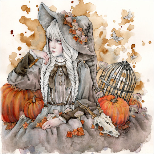 Póster Premium The Gray Witch