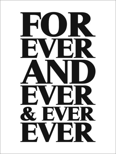 Póster Premium Forever And Ever