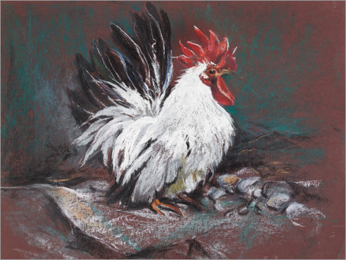Póster Premium Rooster