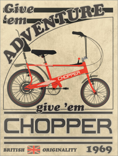 Póster Premium Chopper Bicycle 1969 Advertisement