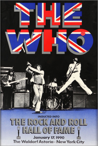 Póster Premium The Who - Hall of Fame