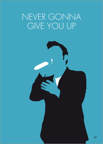Póster Premium Rick Astley - Never Gonna Give You Up