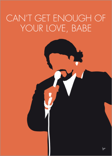 Póster Premium Barry White - Can't Get Enough Of Your Love, Babe