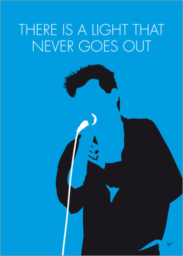 Póster Premium The Smiths - There Is A Light That Never Goes Out