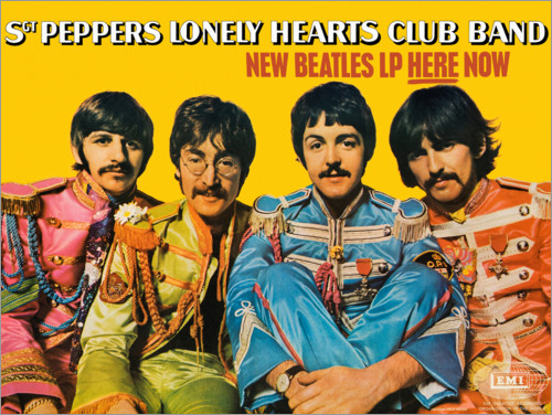 Póster Premium Sgt. Pepper's Lonely Hearts Club Band