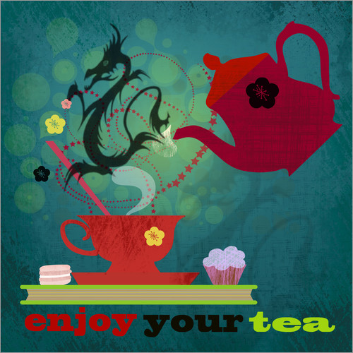 Autocolante decorativo Enjoy your tea