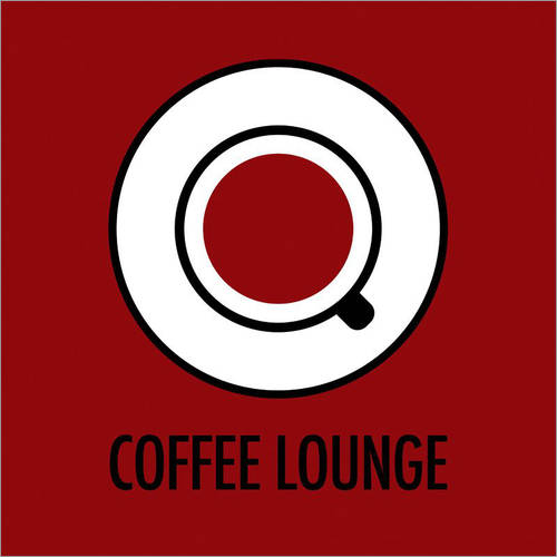 Autocolante decorativo Coffee lounge, red