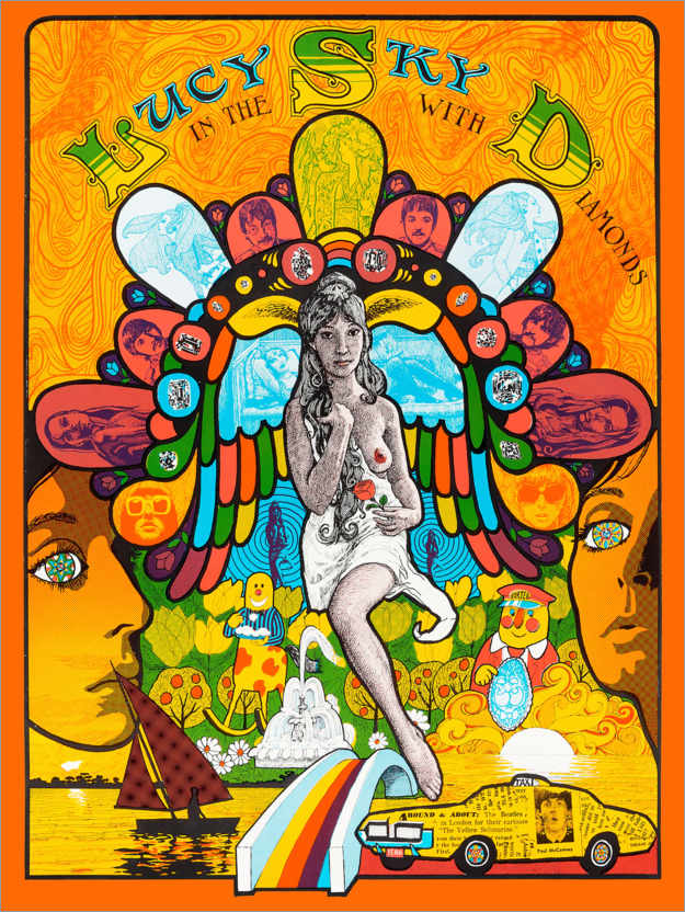 Póster Premium Lucy In The Sky With Diamonds