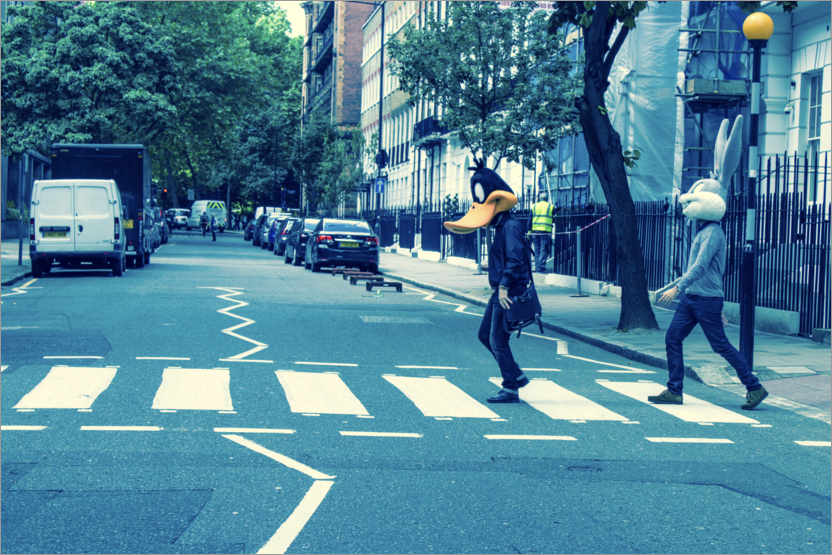 Póster Premium Bugs & Daffy - Abbey Road