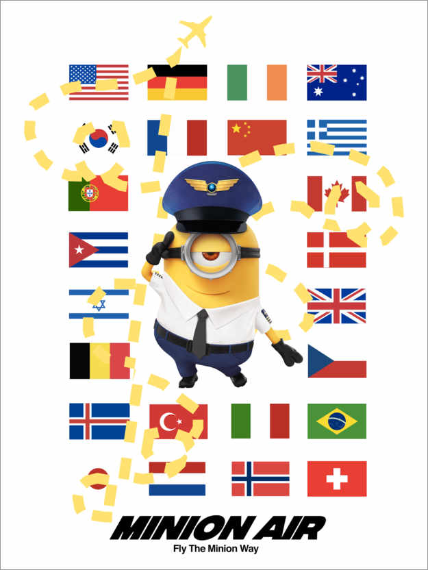Póster Premium Minion Air