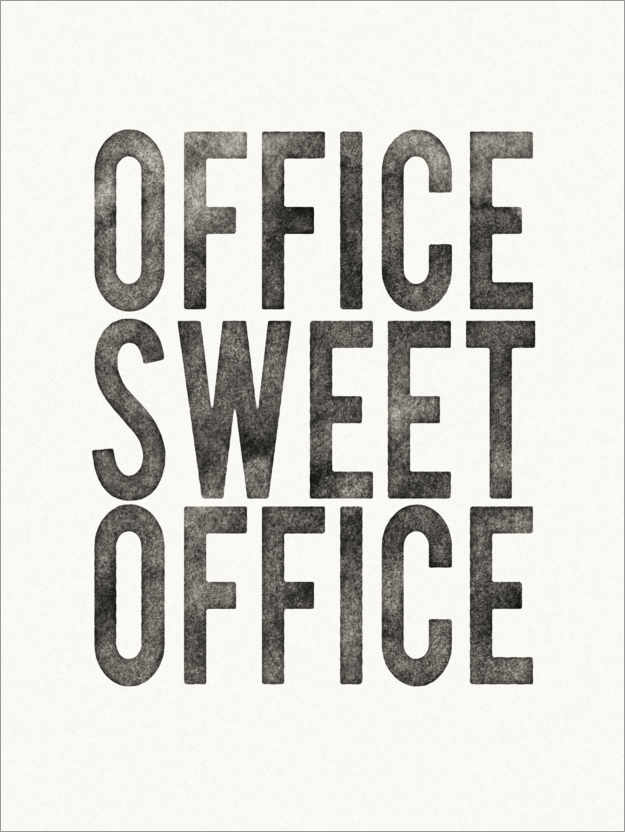 Póster Premium Office Sweet Office