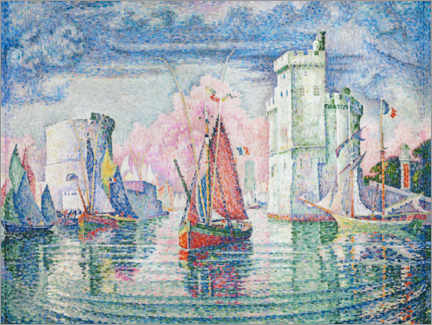 Póster Premium  The Port at La Rochelle - Paul Signac