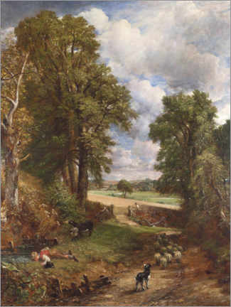Póster Premium  O milharal - John Constable