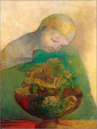 Póster Premium  Shell of becoming - Odilon Redon