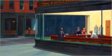 Autocolante decorativo  Nighthawks - Edward Hopper