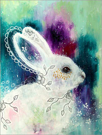 Póster Premium Enchanted whisperings - whimsical rabbit