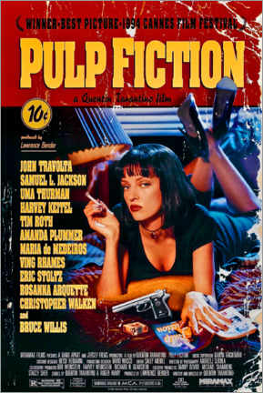 Póster Premium  Pulp Fiction (inglês) - Entertainment Collection