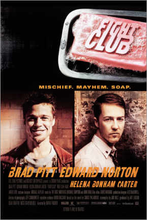 Quadro em PVC  Clube da Combate - Fight Club (inglês) - Entertainment Collection