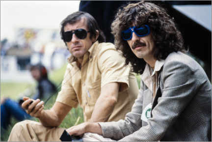Autocolante decorativo  Jackie Stewart and George Harrison, Hockenheimring 1978