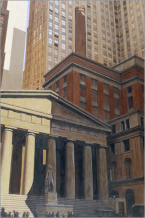Póster Premium Federal Hall, Wall Street