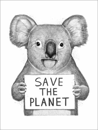 Póster Premium  Save the planet - Nikita Korenkov