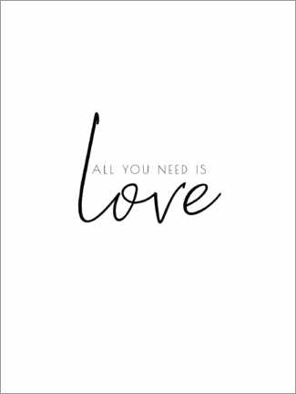Póster Premium All you need is love