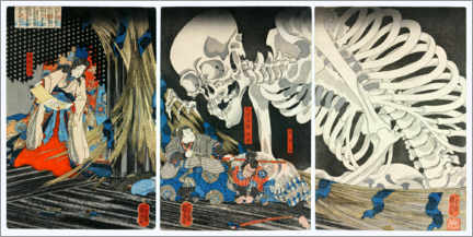 Autocolante decorativo  Takiyasha the Witch and the Skeleton Spectre - Utagawa Kuniyoshi