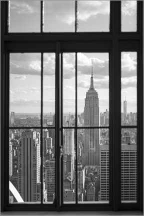 Póster Premium  Empire State Building em Nova York - Jan Christopher Becke