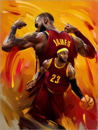 Póster Premium  Lebron James - Dmitry Belov