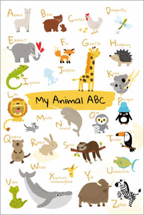 Autocolante decorativo  Meu animal ABC II (inglês) - Julia Reyelt