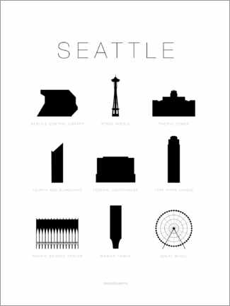 Póster Premium Seattle