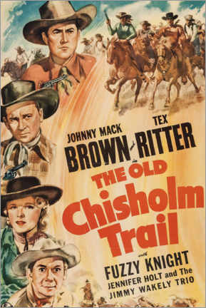 Póster Premium  The Old Chisholm Trail - Entertainment Collection