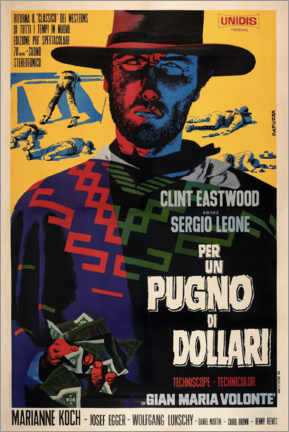 Póster Premium  Por um Punhado de Dólares (italiano) - Entertainment Collection