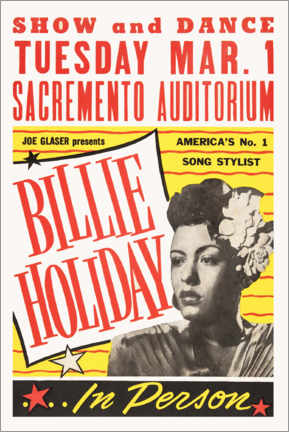 Póster Premium  Billie Holiday - Entertainment Collection