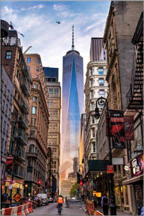 Póster Premium  One World Trade Center em Nova Iorque - Mike Centioli