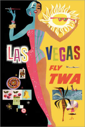 Quadro de madeira  Las Vegas - Travel Collection