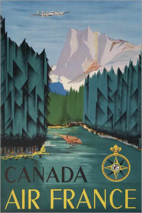 Póster Premium  Canadá - Travel Collection