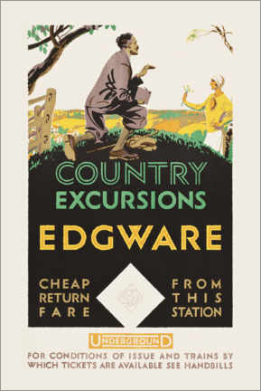 Póster Premium  Country excursions, Egware - Travel Collection
