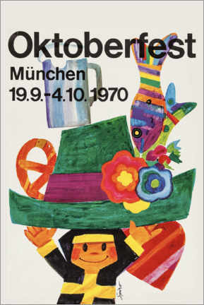 Quadro em PVC  Oktoberfest 1970 - Travel Collection