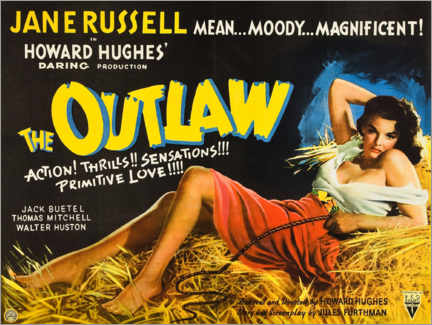Póster Premium  The Outlaw - Entertainment Collection