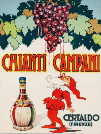 Póster Premium  Chianti Campani - Advertising Collection