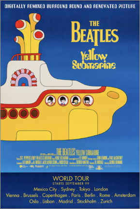 Póster Premium  The Beatles - Yellow Submarine - Entertainment Collection